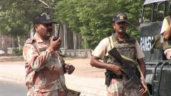 Pakistan Military Rangers Stock Footage