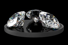 Three diamonds Stock Footage
