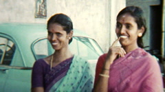 Group of smiling Women V.1 - India 1970s – Vintage Super8 Film Stock Footage