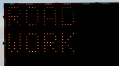 Traffic Blinking Light Neon Sign Stock Footage