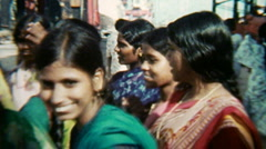 Group of smiling Women V.2 - India 1970s – Vintage Super8 Film - stock footage
