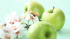 Fresh apples Stock Footage