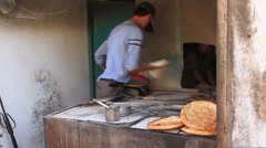 Uyghur nan Bakery in Kashgar 1 Stock Footage