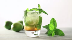 mojito drink - stock footage