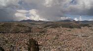 Stock Video Footage of La Paz Bolivia - Aerial pan of City