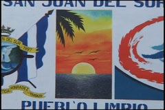 Welcome Sign, Nicaragua - stock footage