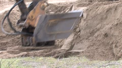 Back Hoe Street Construction 6 Stock Footage
