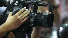 Telecast shootings - stock footage