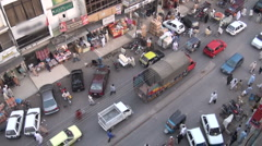 Islamabad traffic from rooftop - stock footage