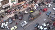 Islamabad traffic from rooftop Stock Footage