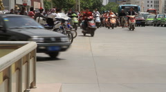 Kashgar Scooters Stock Footage
