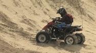 Quad Stalls on the Sand Dunes Stock Footage
