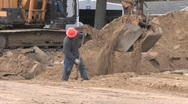 Back Hoe Street Construction 7 Stock Footage