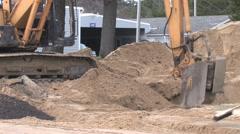 Back Hoe Street Construction 3 Stock Footage