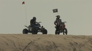 Bike and Quad Overlooking Sand Dunes Stock Footage
