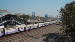 Mumbai train P1 Stock Footage