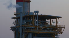 Petrochemical complex, oil and gas industry Stock Footage