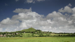 Glastonbury Tor Timelapse Stock Footage