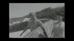1960's 16mm film Sydney Bondi Beach montage 5 - stock footage
