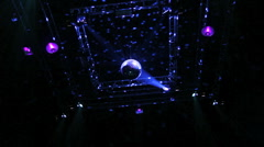 Discoball at night club - stock footage
