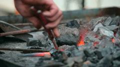 Blacksmith fire Stock Footage