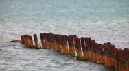 Old pier Stock Footage