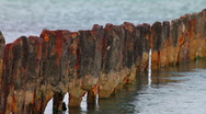 Rusty piles Stock Footage