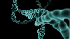 DNA Strand flight through Stock Footage