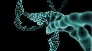 DNA Strand flight through Stock Footage