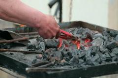 Blacksmith's hands Stock Footage