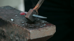 Smith is forging  steel Stock Footage