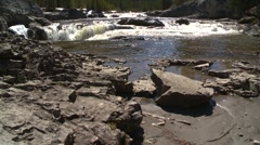 Dolly shot, Elbow falls pan, #4 left to right Stock Footage