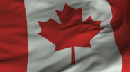 Stock Video Footage of Seamless Waving Canadian Flag with Fabric Texture
