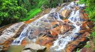 Stock Video Footage of Na Muang 2 waterfall, koh Samui, Thailand