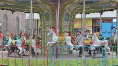 Carousel Stops Stock Footage