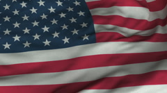 Seamless Waving American Flag with Fabric Texture - stock footage