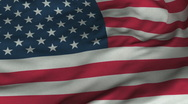 Seamless Waving American Flag with Fabric Texture Stock Footage