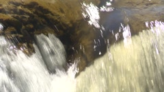 River and waterfall, Elbow falls, close up falls edge and zoom back Stock Footage