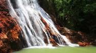 Stock Video Footage of Na Muang 1 waterfall, koh Samui, Thailand