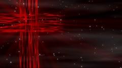 Flowing Cross Red Loop Stock Footage