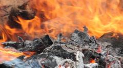 Bonfire of trash. (v.10) Stock Footage