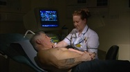 Stock Video Footage of Echocardiography procedure