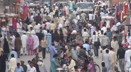 Stock Video Footage of Crowds in Islamabad bazaar