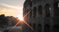 Coliseum Sunset Rome HD1080 - Time Lapse Stock Footage