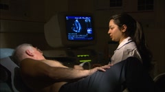 Echocardiography procedure Stock Footage
