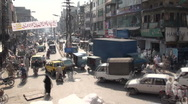 Stock Video Footage of Pumping traffic Islamabad bazaar (time lapse)