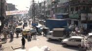 Pumping traffic Islamabad bazaar (time lapse) Stock Footage