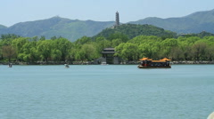 Kunming Lake at the Summer Palace, Beijing China - 2 Stock Footage