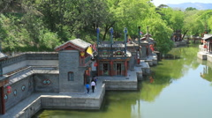 Summer Palace walkway, Beijing China - 2 - stock footage