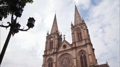 Sacred Heart Cathedral of Guangzhou Stock Footage